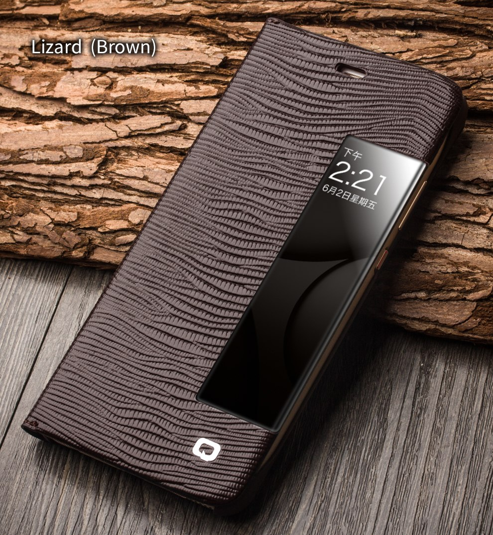 QIALINO Smart View Flip Genuine Leather Window Case for Huawei Ascend P10 Cover for Huawei P10 Plus with Sleep Wake Up Function
