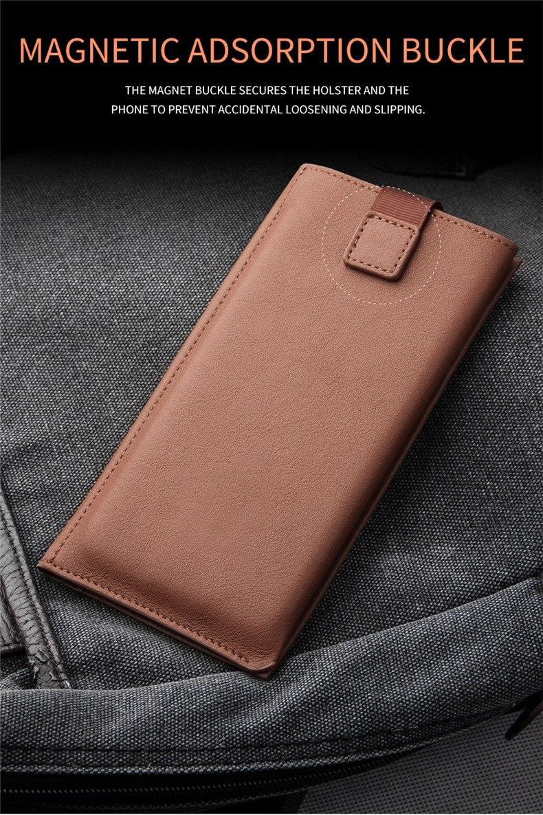 QIALINO Business Style Genuine Leather Wallet Pouch Case for Huawei P20 Pro 6.1 inch Holster Card Slots Phone Cover for P20 Pro