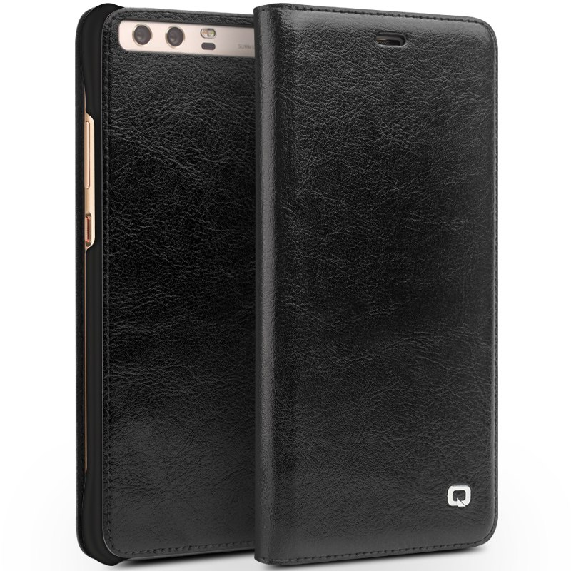 QIALINO NEW Cases for Huawei Ascend P10 plus Luxury Genuine Leather Flip Case For Huawei P10 fashion Full Protective back case