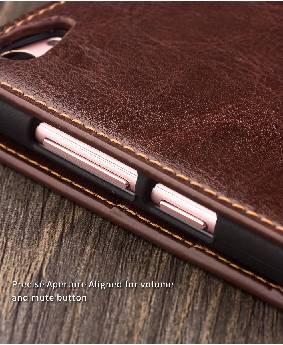 2016 QIALINO Thin Case for vivo X7 New Flip Genuine Leather Cover for vivo X7 plus Fashion Luxury Wallet Phone Case for BBK