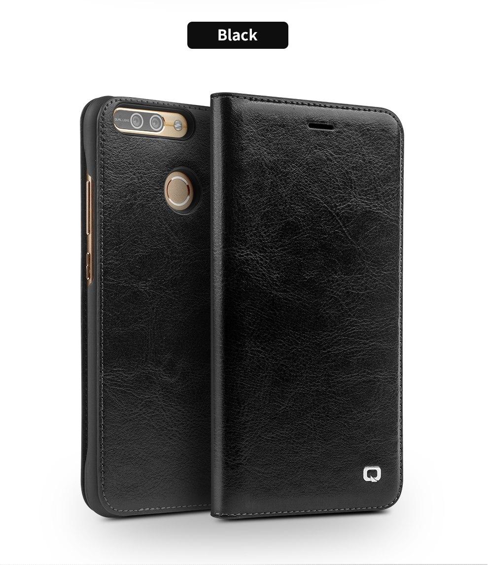 QIALINO Case for Huawei honor v9 Handmade Genuine Leather Wallet Flip Cover for Huawei Honor v9 Luxury Ultra Slim Flip Case