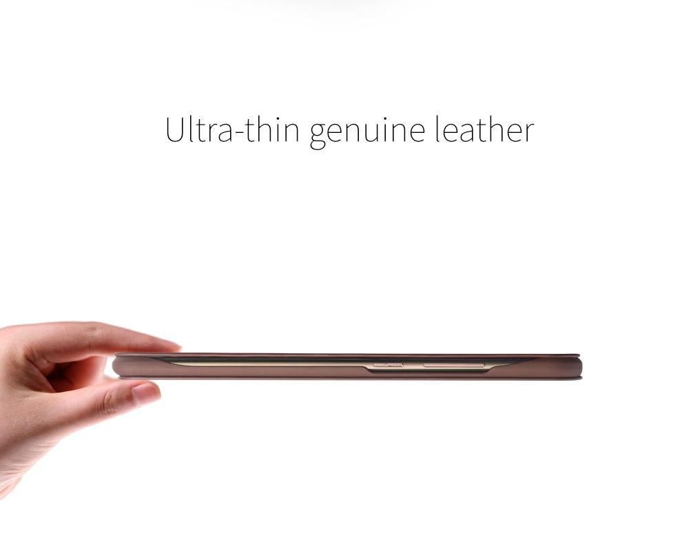 QIALINO Case for Huawei honor v9 Luxury Genuine Leather Ultrathin Flip Cover for Huawei Honor V9 Sleep Wake Function Smart Case