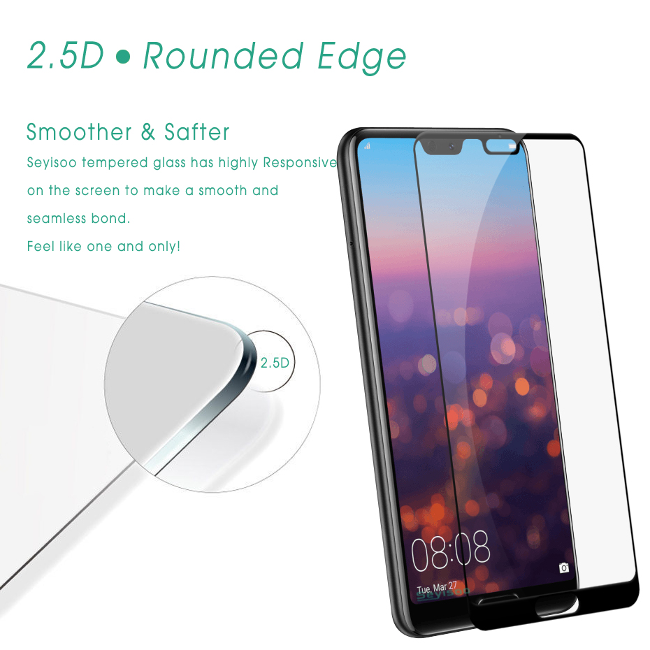 2 Pack Seyisoo Tempered Glass For Huawei P20 / P20 Pro