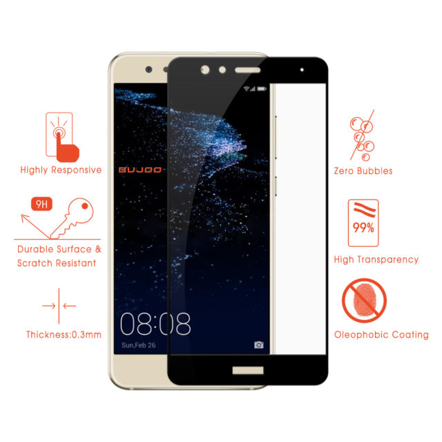 BUJOO Protective Tempered Glass For Huawei P10 Lite