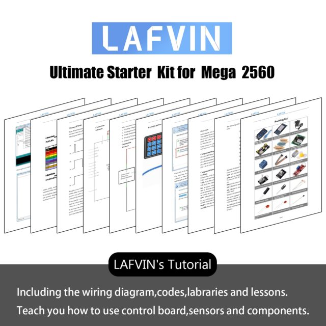 LAFVIN Ultimates Starter Kit for Arduino Mega 2560 with Tutorial