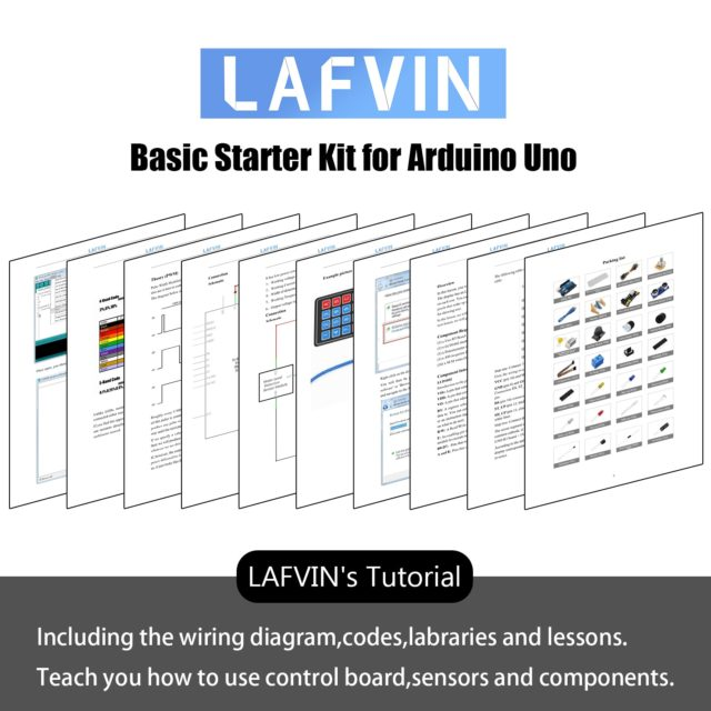 LAFVIN Basic Starter Kit for Arduino UNO R3 with Tutorial