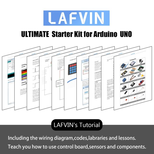 LAFVIN Ultimates Starter Kit for Arduino UNO R3 Project with Tutorial