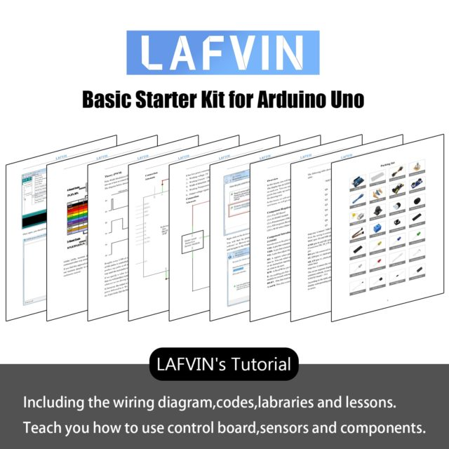 LAFVIN Upgrade Basic Starter Kit for Arduino UNO R3 Project