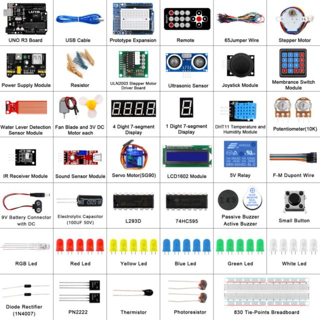 LAFVIN Super Starter Kit for LCD 1602 IIC Arduino Uno R3 with Tutorial