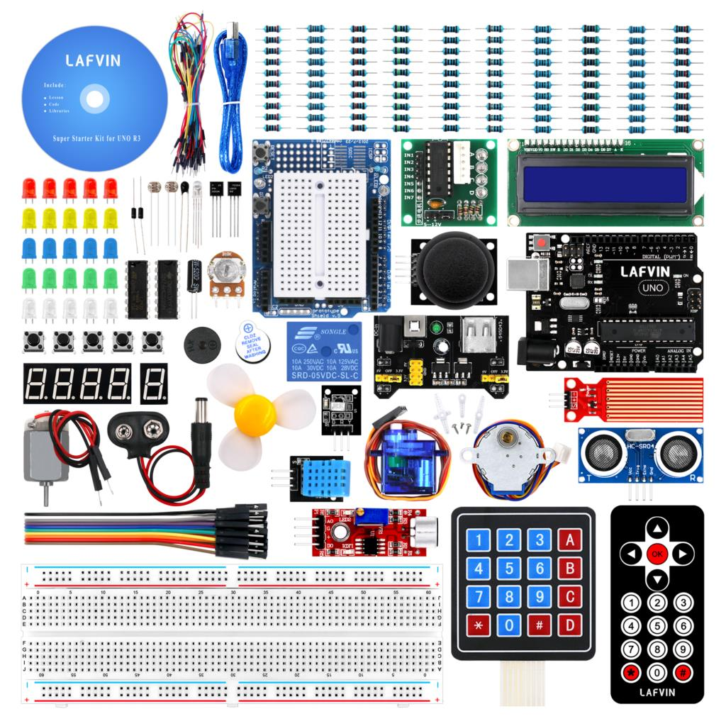 Student Project: 10Set/Lot LAFVIN Super Learning Kit for Arduino UNO R3 with CD Tutorial