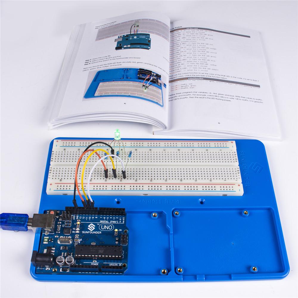 SunFounder Super Starter Kit V3.0 for Arduino UNO R3, Mega 2560 with Tutorial Book