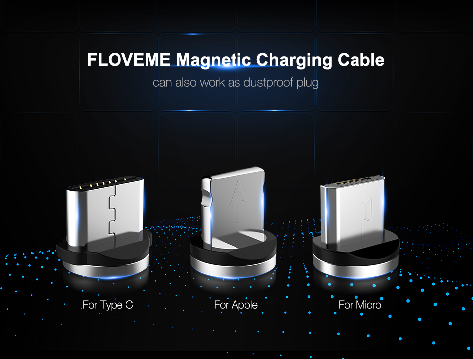 FLOVEME Universal Magnetic Charger Cable For Smatphones