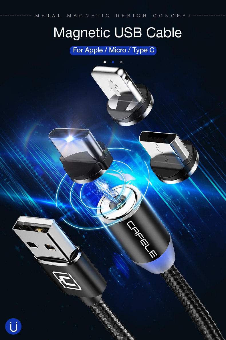 Cafele LED Magnetic USB Charger Cable