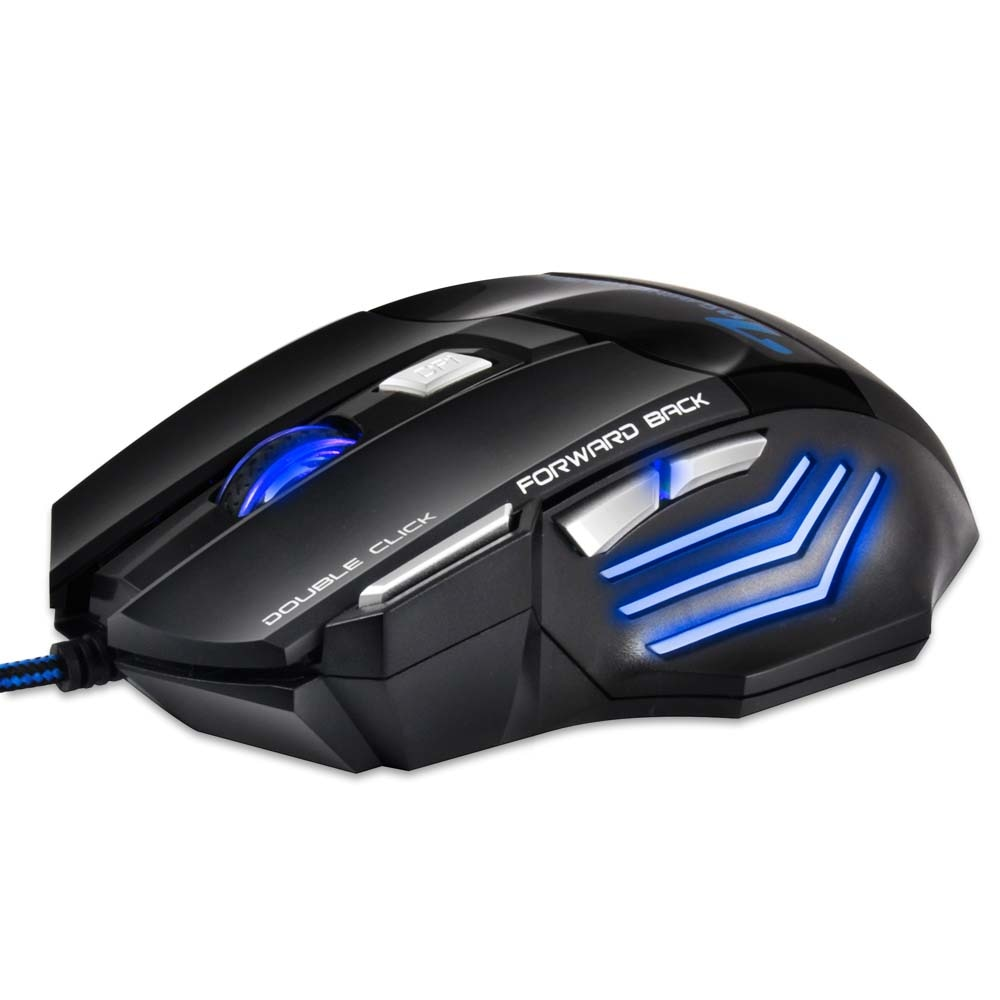 Optical USB Wired Gaming Mouse 7 Button 5500 DPI LED