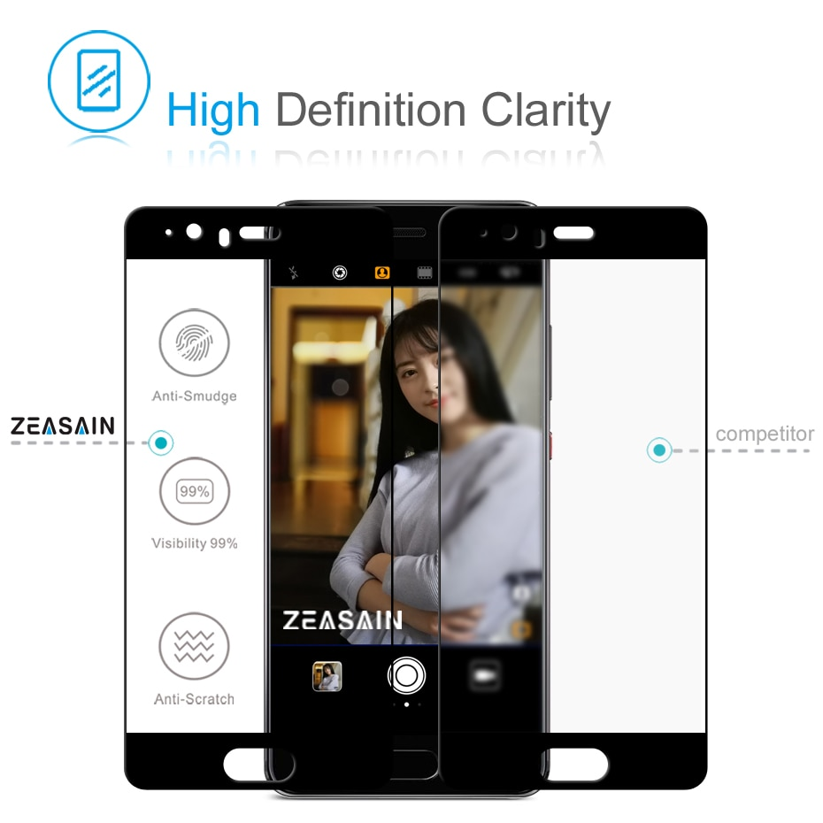 ZEASAIN Tempered Glass for Huawei P10