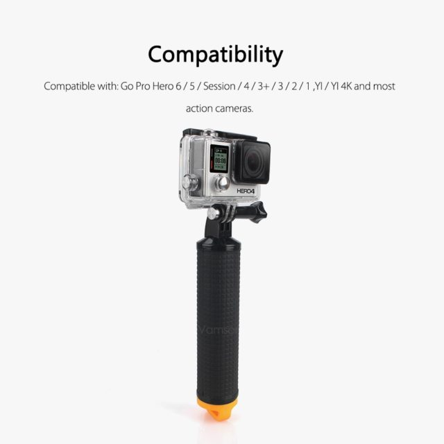 Vamson VP418 Accessories Floaty Bobber Handheld selfie stick for GoPro Hero 5 4 3, Xiaomi yi, SJCAM