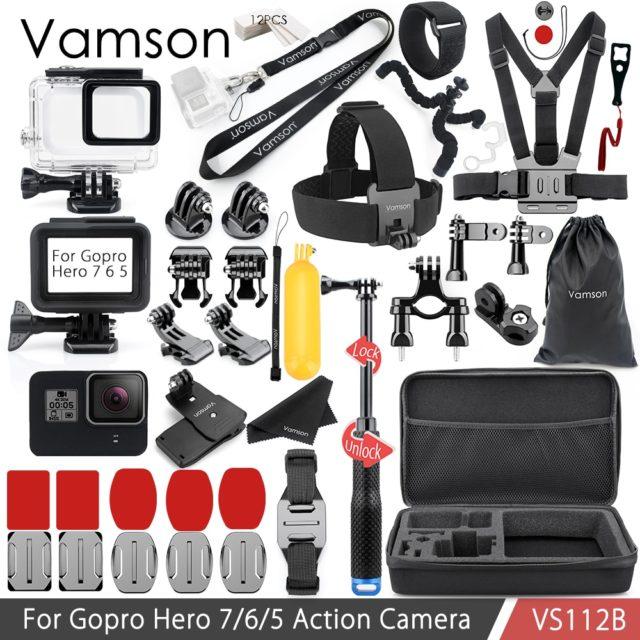 Vamson VS112 - Accessories Set Neck Strap, Waterproof housing case, Silicone Case for Gopro Hero