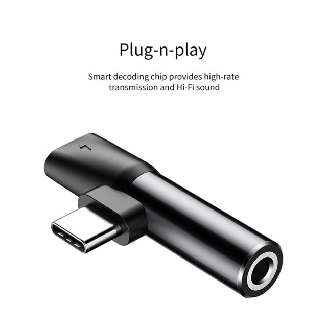 Baseus USB C to 3.5mm Aux Jack Audio Adapter