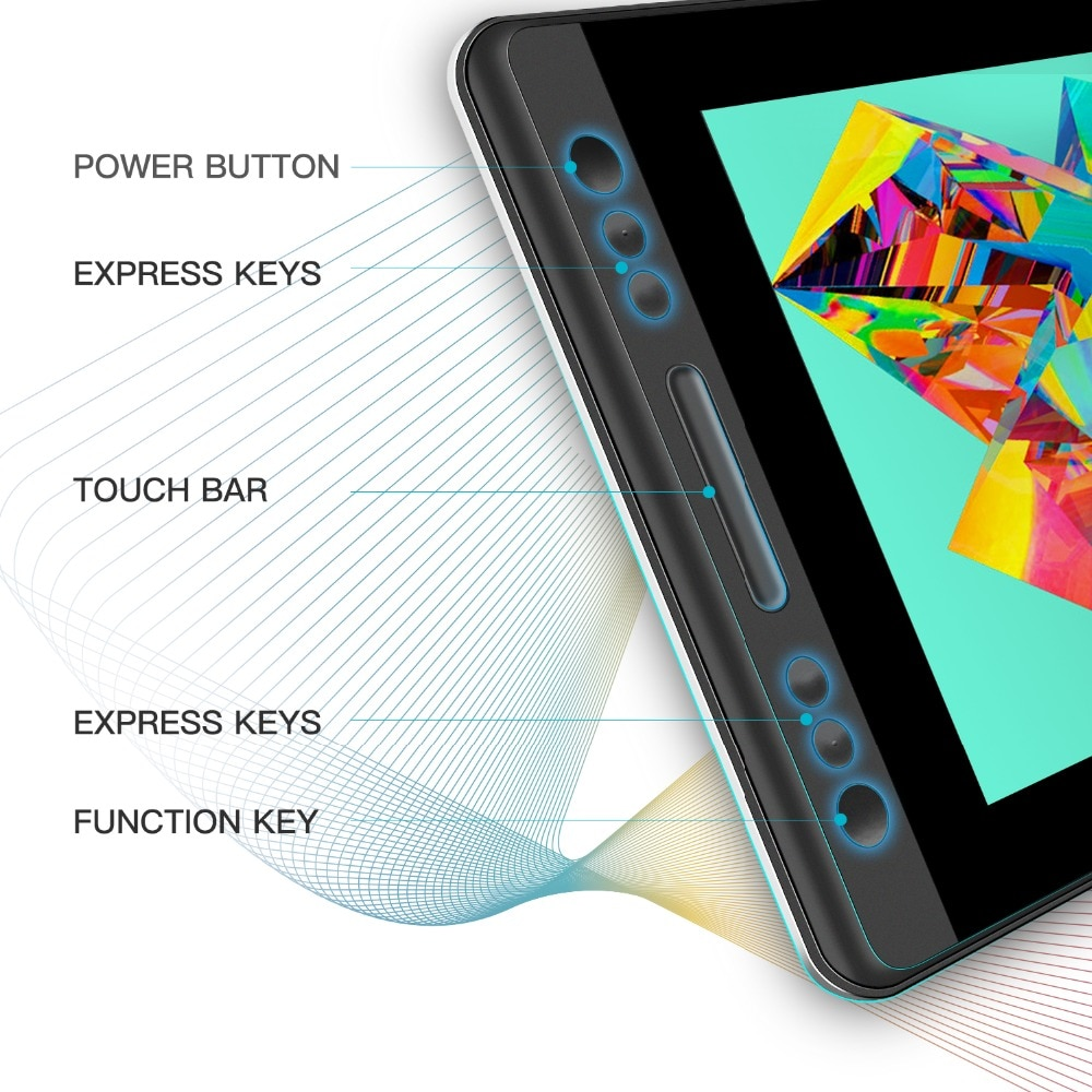 HUION KAMVAS Pro 13 GT-133 Pen Digital Tablet Monitor, Battery-Free Pen