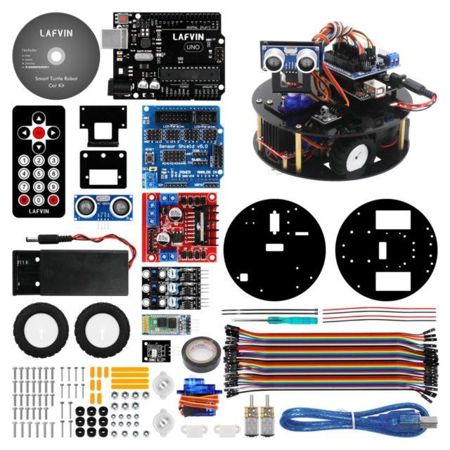 LAFVIN Smart Robot Car Kit Turtle DIY Assembly Kit for Arduino