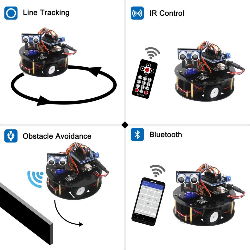 LAFVIN Smart Turtle Robot Car Kit for Arduino