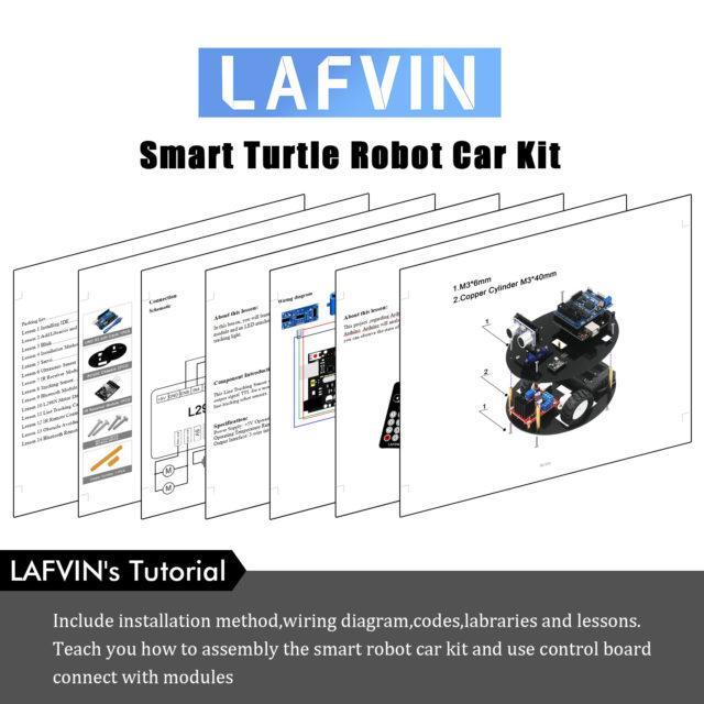 10 Stück/Packung: LAFVIN Smart Turtle Robot Car Kit for Arduino