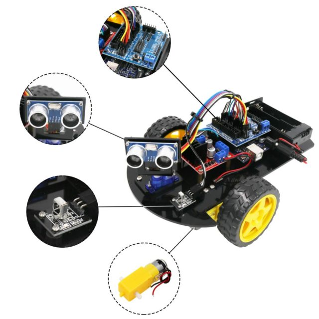 LAFVIN Smart Robot Car 2WD Chassis Kit with Tutorial for Arduino