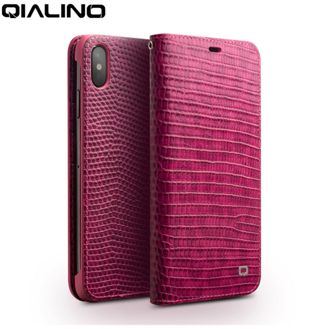 QIALINO Genuine Leather Phone Case for iPhone X/XS/XR